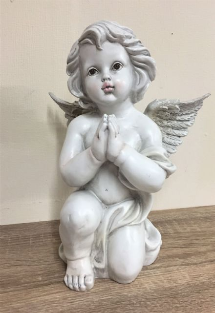 Praying Cherub with Wings Decorative Graveside Memorial Ornament (A)